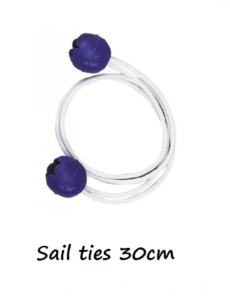 Sail ties with balls 30cm length- pair